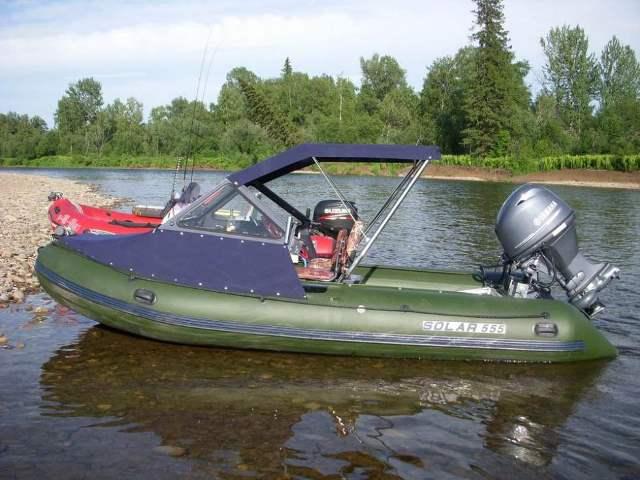 Тюнинг на резиновой лодке