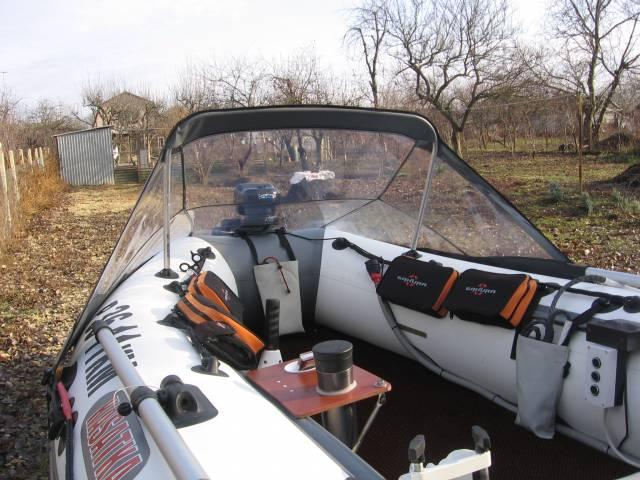 монтаж носового тента на лодку пвх